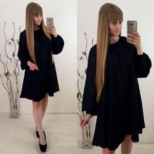 Платье короткое повседневное с длинным рукавом У1122