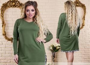 Платье короткое нарядное зеленое У1314