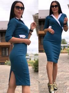 Платье короткое футляр У6388