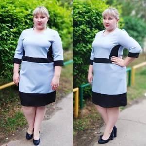 Платье короткое офисное У6412
