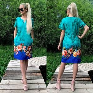 Платье короткое летнее У6424