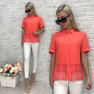 Блузка с коротким рукавом У6756