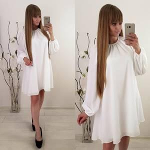 Платье короткое повседневное с длинным рукавом У1123