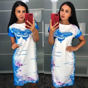 Платье короткое летнее повседневное У6828