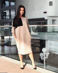 Платье короткое офисное У7221