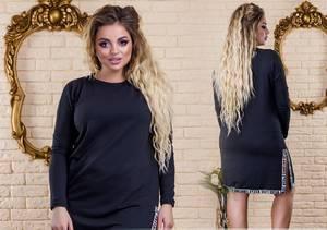 Платье короткое нарядное черное У1315