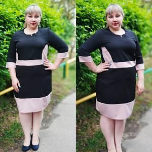 Платье короткое офисное У6413