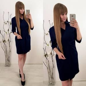 Платье короткое повседневное с длинным рукавом У1124
