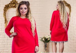 Платье короткое нарядное красное У1316