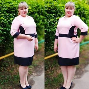 Платье короткое офисное У6414
