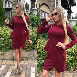 Платье короткое футляр У6575