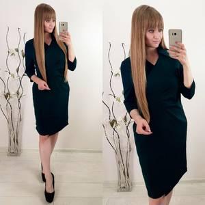 Платье короткое повседневное с длинным рукавом У1126