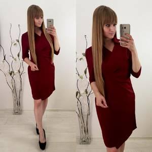 Платье короткое повседневное с длинным рукавом У1127
