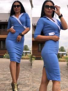 Платье короткое футляр У6391