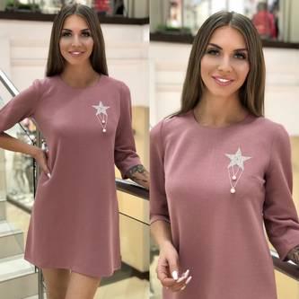 Платье короткое с рукавом 3/4 Ш6752