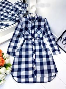 Платье короткое с длинным рукавом А36423