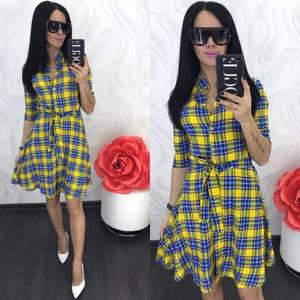 Платье короткое современное Ц7065