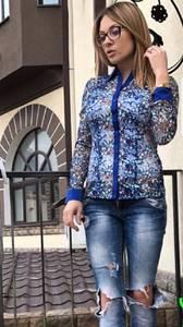 Рубашка с длинным рукавом с принтом П3887