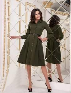Платье однотонное короткое Я4200