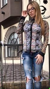Рубашка с длинным рукавом с принтом П3890