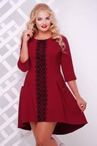 Платье короткое нарядное с кружевом Т7567