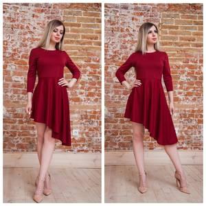 Платье короткое коктейльное красное Т7557