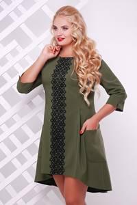 Платье короткое нарядное с кружевом Т7568