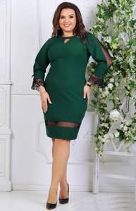 Платье короткое нарядное с кружевом Т7571