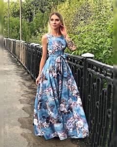 Платье длинное летнее Ч2506