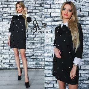 Платье короткое нарядное элегантное У1182