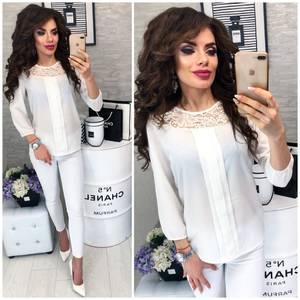 Блуза с кружевом Ц3326