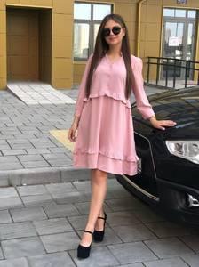 Платье короткое однотонное Ш1810