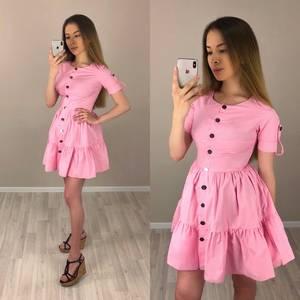 Платье короткое коктейльное однотонное Т4185