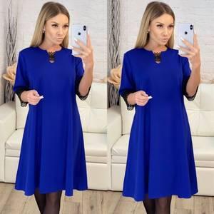 Платье короткое однотонное Ш0935