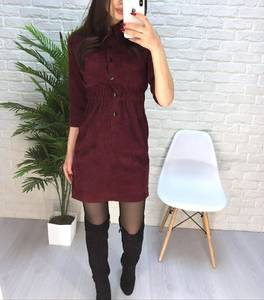 Платье короткое однотонное А18367