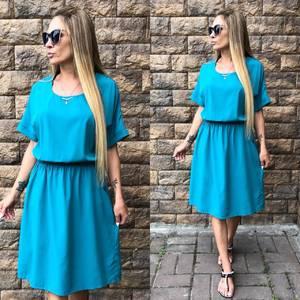 Платье короткое летнее голубое Т4611