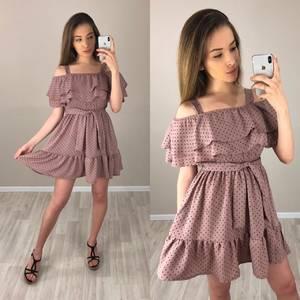 Платье короткое с принтом летнее Т4193