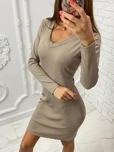 Платье короткое с длинным рукавом А10528