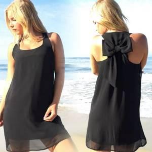 Платье короткое однотонное черное Т4866