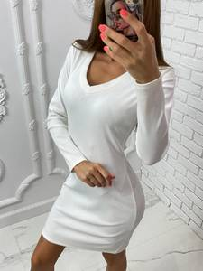 Платье короткое с длинным рукавом А10529