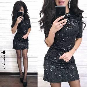 Платье короткое нарядное А10627