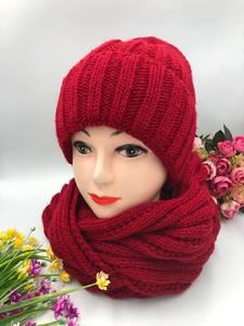 Шапка и шарф Хомут А10756