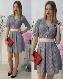 Платье короткое повседневное А30589