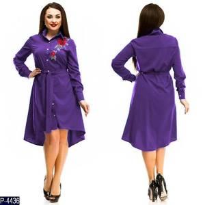 Платье короткое с длинным рукавом Ч4245