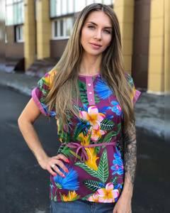 Блуза с коротким рукавом Ч8645