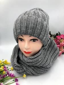 Шапка и шарф Хомут А10757
