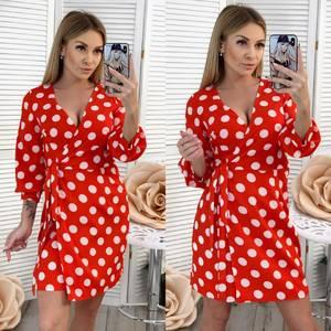 Платье короткое с рукавом 3/4 Ц3076