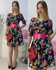 Платье короткое повседневное А30590