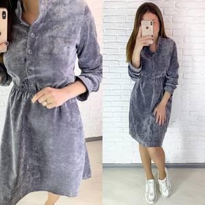 Платье короткое однотонное А09355
