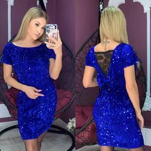 Платье короткое нарядное А10462